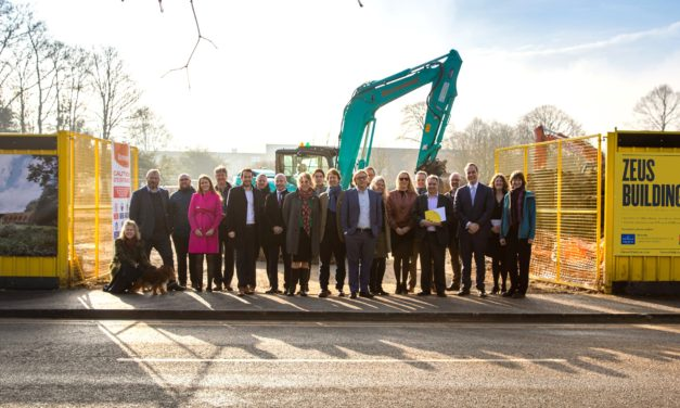 Groundbreaking marks start of latest R&D space at Harwell