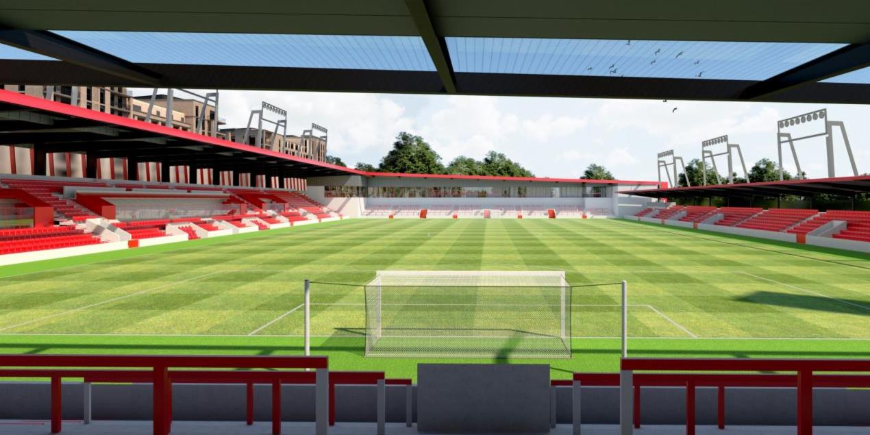 Plans submitted for new stadium and 1,000 flats at Woking FC