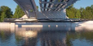 """Chiswick marches on with new Thames """"bodpave"""" bridge."""