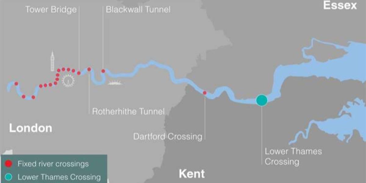 £7bn for funding Lower Thames Crossing