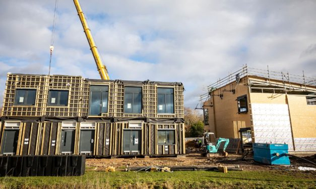 Borough's first net zero carbon building lifted into place