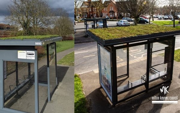 All aboard for green bus shelters in Milton Keynes