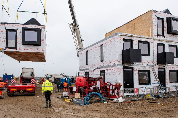 Modular homes arrive in Cambridgeshire's new town