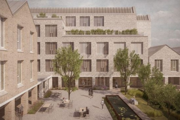 Support for six storey office next to Cambridge station