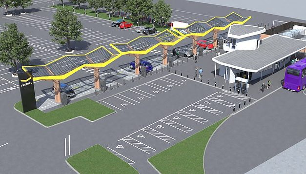 Europe's most powerful electric car charging hub for Oxford