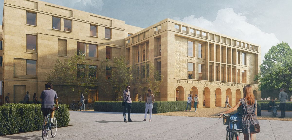 Chance to see proposed new Stephen A. Schwarzman Centre for the Humanities