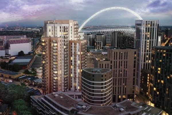 Wembley Park regen works for Barratt Homes