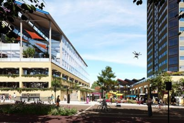 First Base and Patron Capital submit plans for 185,000 of mixed use in MK